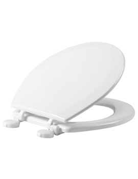 Tavistock Meridian Gloss White Moulded Wood Toilet Seat