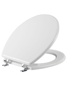 Tavistock Topaz Gloss White Moulded Wood Toilet Seat