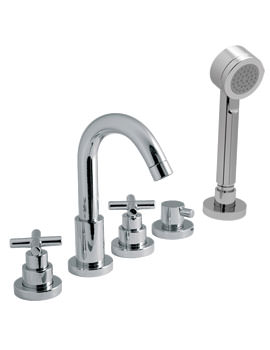 Vado Elements Water Deck Mounted 5 Hole Bath Shower Mixer Tap With Kit