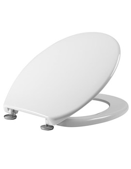Tavistock Aspire Gloss White Slim Profile Thermoset Toilet Seat