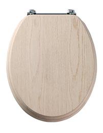 Tavistock Premier Limed Oak Toilet Seat With Chrome Bar Hinge