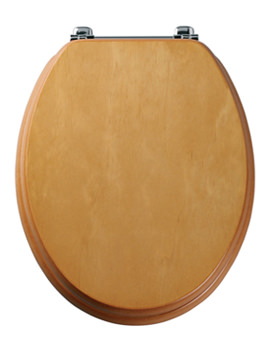 Tavistock Premier Antique Pine Toilet Seat With Chrome Bar Hinge