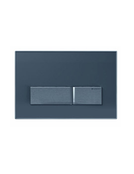 Geberit Sigma50 Smoke Glass Reflective Dual Flush Plate