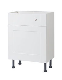 Balterley 600mm White Gloss Shaker Cistern Base Cabinet With Legs