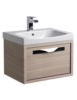 Roper Rhodes Breathe 600mm Pale Driftwood-Plum Wall Hung Unit And Basin