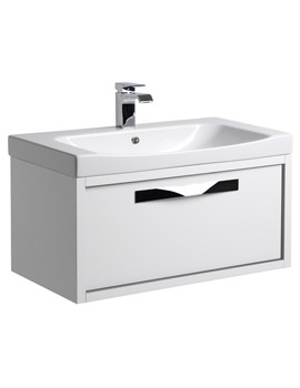 Roper Rhodes Breathe 800mm White-Grey Wall Hung Unit And Basin