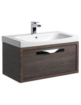 Roper Rhodes Breathe 800mm Mali-Plum Wall Hung Unit And Basin