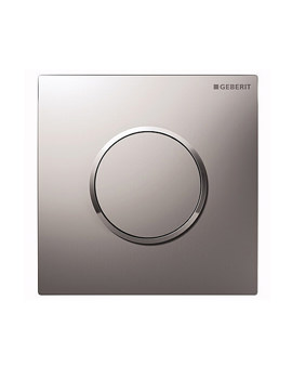 Geberit Sigma10 Pneumatic Urinal Flush Control -Matt-Gloss Chrome