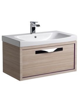 Roper Rhodes Breathe 800mm Pale Driftwood-Plum Wall Hung Unit And Basin