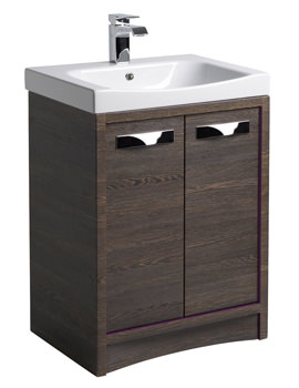 Roper Rhodes Breathe 600mm Mali-Plum Freestanding Unit And Basin
