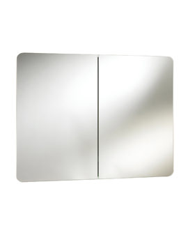 Beo Brandon 800mm Double Door Mirrored Cabinet