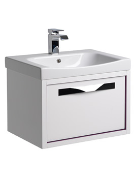 Roper Rhodes Breathe 600mm White-Plum Wall Hung Unit And Basin