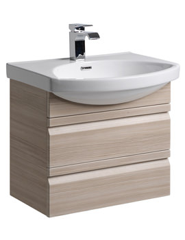 Roper Rhodes Profile 600mm Pale Driftwood Wall Hung Drawer Unit And Basin