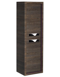 Roper Rhodes Breathe 350 x 1200mm Tall Wall Hung Mali-Plum Storage Unit