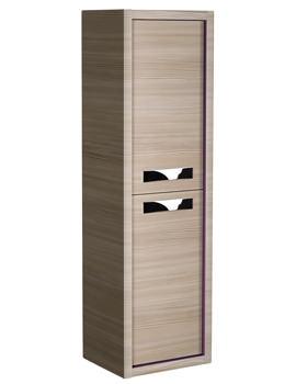 Roper Rhodes Breathe 350 x 1200mm Tall Pale Driftwood-Plum Storage Unit