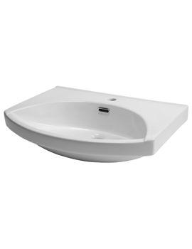 Roper Rhodes Profile 600mm Semi Recessed Ceramic Basin For Furniture
