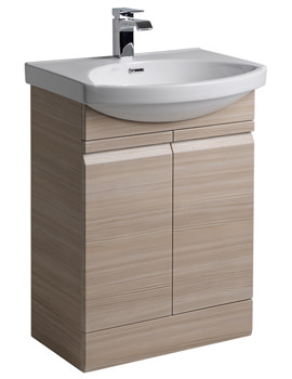 Roper Rhodes Profile 600mm Pale Driftwood Freestanding Unit And Basin