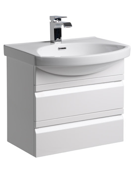Roper Rhodes Profile 600mm White Wall Hung Drawer Unit And Basin