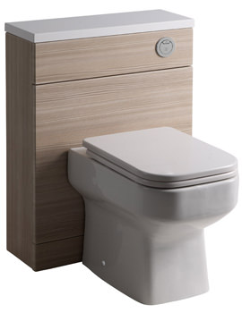 Roper Rhodes Breathe-Profile 600mm Pale Driftwood Back-To-Wall WC Unit