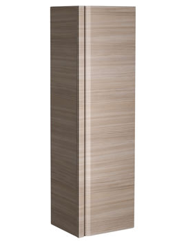 Roper Rhodes Profile 350x1200mm Tall Wall Hung Pale Driftwood Storage Unit