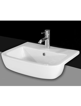 Essential Orchid 520mm Semi Recessed Wash Basin