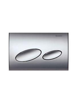 Geberit Kappa20 Matt Chrome Plastic Flush Plate For Dual Flush