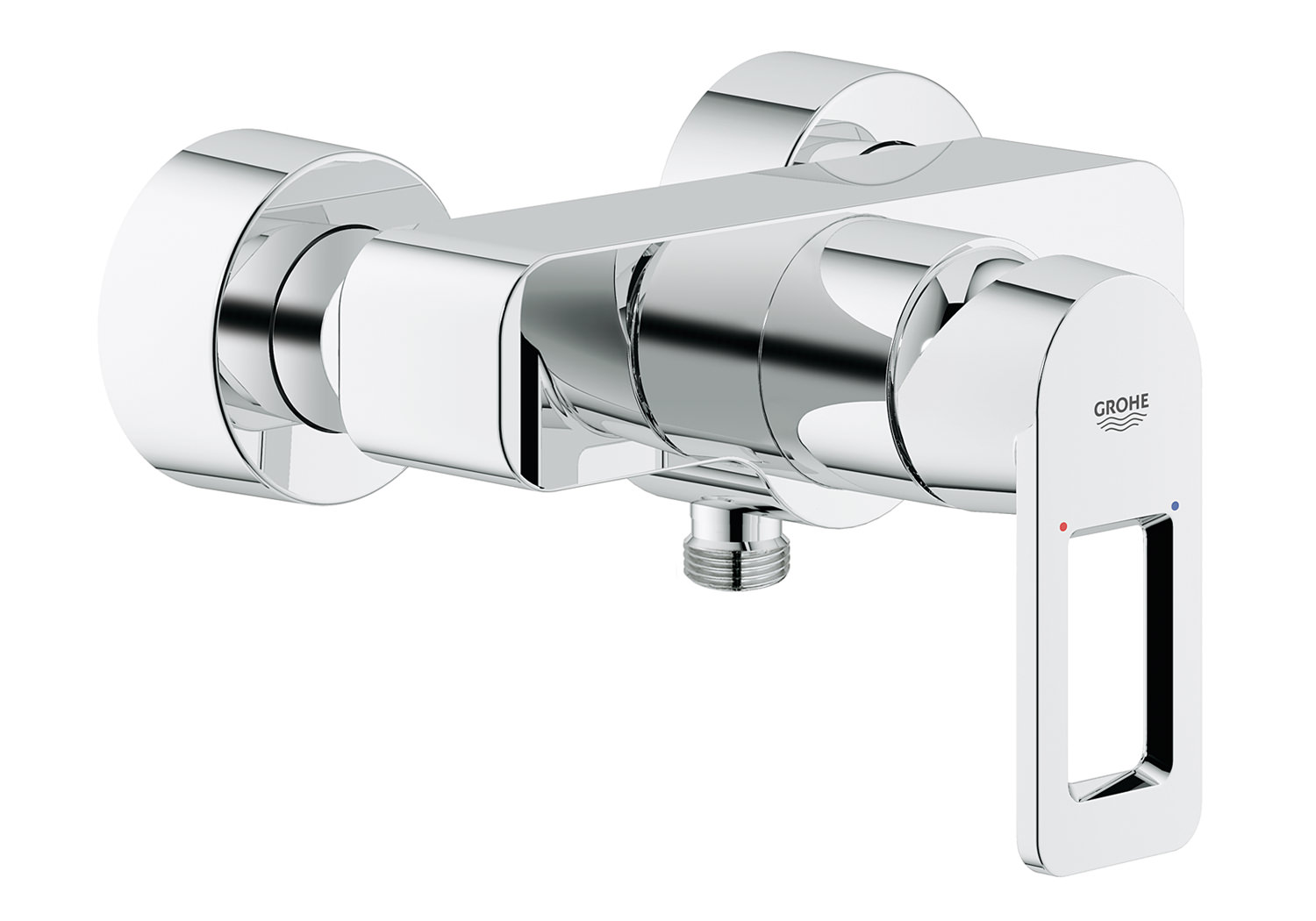 grohe quadra wall mounted exposed shower mixer valve chrome. Black Bedroom Furniture Sets. Home Design Ideas