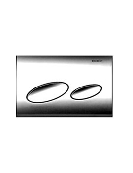 Geberit Kappa20 Gloss Chrome Plastic Flush Plate For Dual Flush