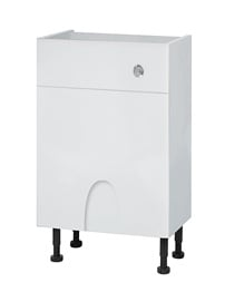 Balterley 500mm Compact Cistern Base Cabinet Euro White Gloss