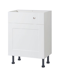 Balterley 500mm Compact Cistern Base Cabinet White Gloss Shaker