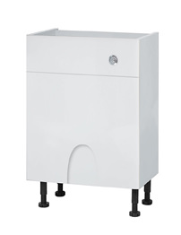 Balterley 600mm Compact Cistern Base Cabinet Euro White Gloss