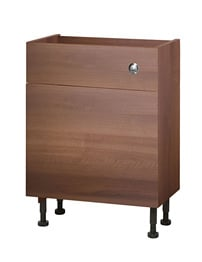 Balterley 600mm Compact Cistern Base Cabinet Walnut
