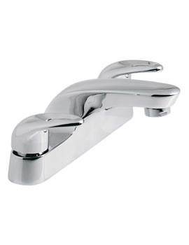 Vado Magma Deck Mounted 2 Hole Bath Filler Tap Chrome