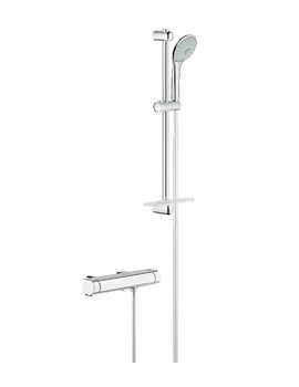 Grohe Grohtherm 2000 New Exposed Chrome Thermostatic Shower Set