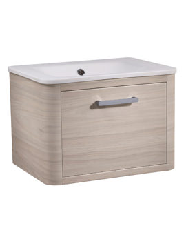 Roper Rhodes Moment 600mm Light Elm Wall Hung Drawer Unit And Basin