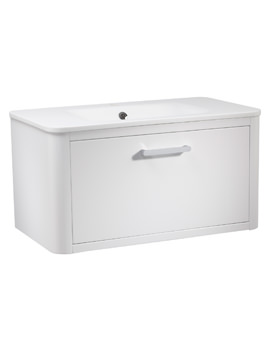 Roper Rhodes Moment 800mm White Wall Hung Drawer Unit And Basin