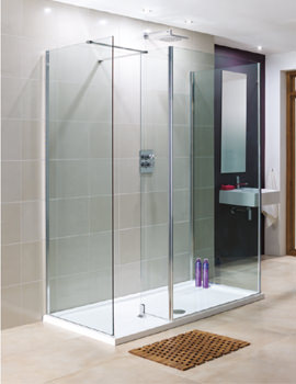 Lakes Coastline Rhodes 8mm Walk In Shower Panel Only