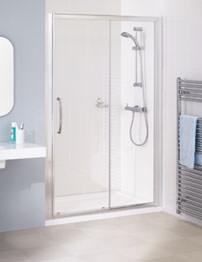 Lakes Classic Semi-Frameless Slider Door 1400 x 1850mm Silver
