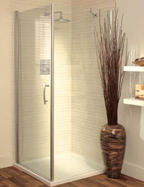 Lakes Italia Elegance Romano Semi-Frameless Pivot Door 750mm