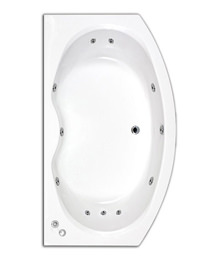 Trojan Corsica Bow Fronted Whirlpool Bath 1700 x 970mm
