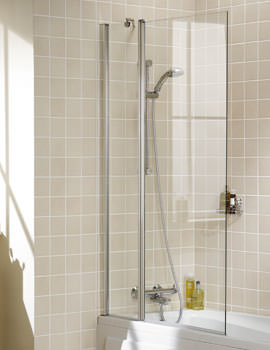 Lakes Classic Square Double Panel Bath Screen - W 944 x H 1500mm