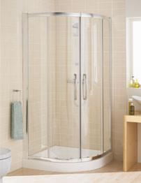 Lakes Classic Single Rail Quadrant Shower Enclosure 900 x 900mm Silver