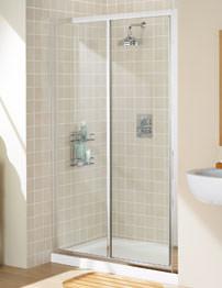 Lakes Classic Framed Slider Shower Door 1200mm Silver