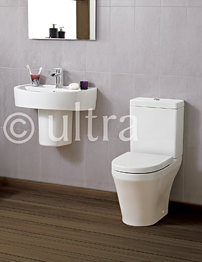 Ultra Priory White 4 Piece Cloakroom Suite