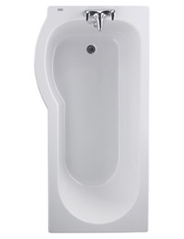 Twyford Galerie Optimise Left Hand Offset Shower Bath 1700 x 750-850mm