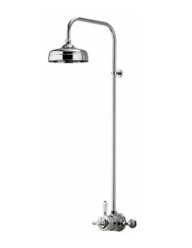 Aqualisa Aquatique Exposed Valve With 8 Inch Fixed Drencher Head - Chrome