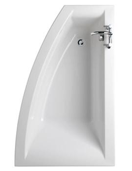 Twyford Indulgence Right Hand Offset Corner Bath 1600 x 500-1000mm