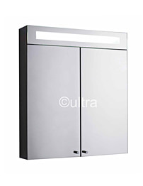 Ultra Tucson Stainless Steel Double Mirror Door Cabinet With Light