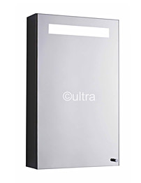 Ultra Consul Stainless Steel Single Mirrored Cabinet With Light