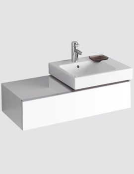 Twyford 3D 500mm Basin And 890mm Alpine White 1 Drawer Vanity Unit